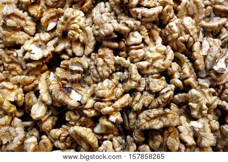 Healthy Iranian nuts in a local market.