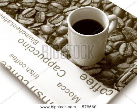 Coffee Mug On Tray