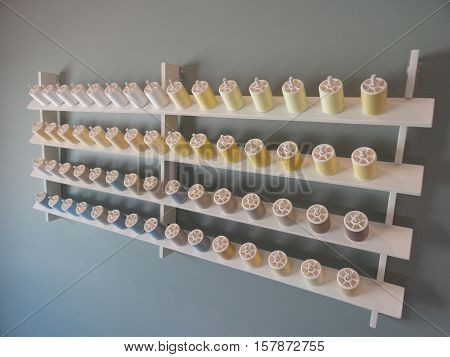 Bobbin storage for needlework on the wall