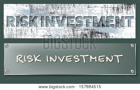 Vector abstract banners with the words risk management