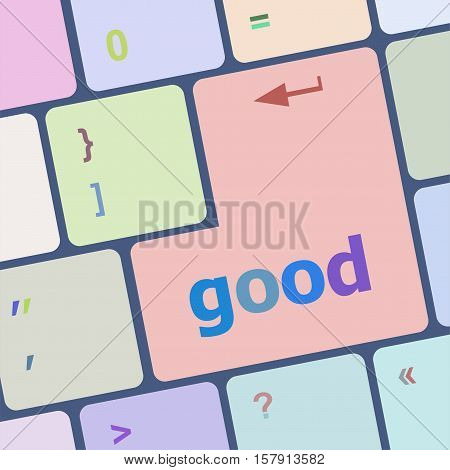 News Concept Good On Computer Keyboard Background