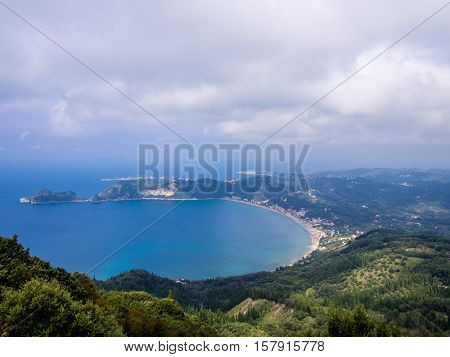 Agios Georgios cape on Corfu Greek island