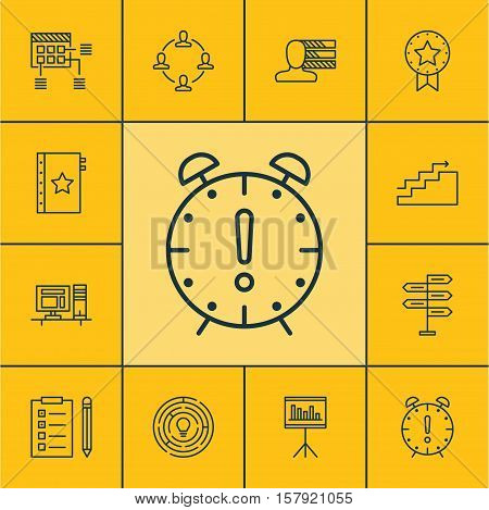 Set Of Project Management Icons On Presentation, Innovation And Growth Topics. Editable Vector Illus