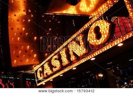Muestra de neón del casino.