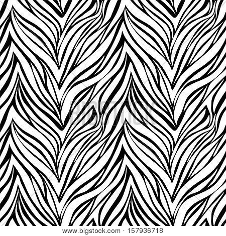 Seamless texture of zebra skin. background for design for greeting card and invitation of the wedding birthday Valentine's Day mother's day and other seasonal holiday