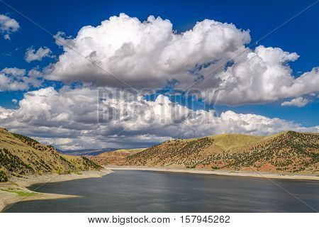 Jordanelle Reservoir In Utah, United States