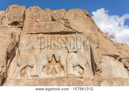 Tomb of Artaxerxes in the Naqsh-e Rustam, an ancient necropolis in Pars Province, Iran.