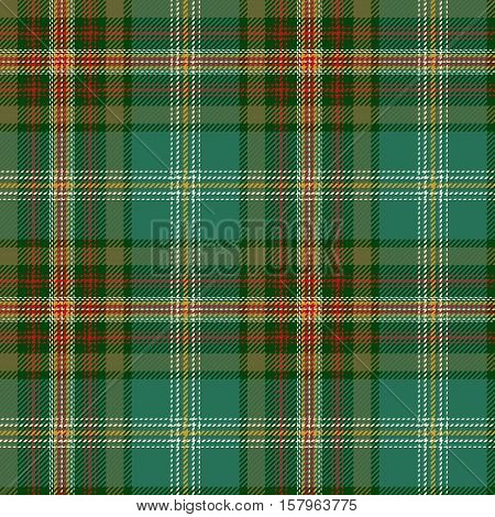 Green Tartan Seamless Pattern. Trendy illustration for wallpapers. Tartan plaid inspired background. Suits for decorative paper fashion design and house interior design as well as for hand crafts