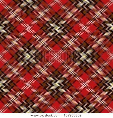 Red Tartan Seamless Pattern. Trendy illustration for wallpapers. Tartan plaid inspired background. Suits for decorative paper fashion design and house interior design as well as for hand crafts
