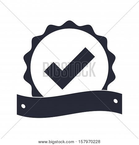 Seal of guarantee with approval symbol vector illustration design