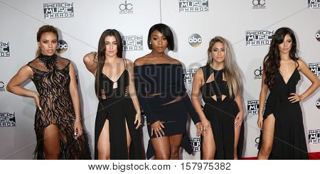 LOS ANGELES - NOV 20:  Fifth Harmony at the 2016 American Music Awards at Microsoft Theater on November 20, 2016 in Los Angeles, CA