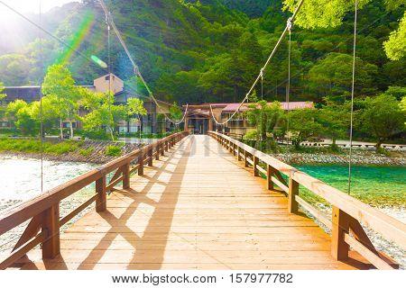 Kamikochi Opposite Bank Kappa-bashi Bridge Deck H