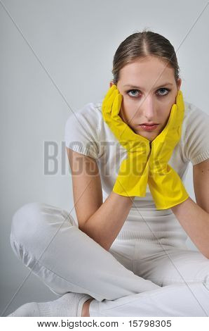 Yellow Gloves - I Do Not Want To Work?