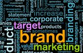 stock photo of marketing strategy  - Branding of Market Product Word Cloud Background - JPG