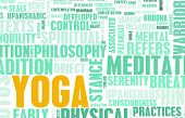 stock photo of vedic  - Yoga Learning Exercise Class as a Background - JPG
