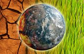 image of global-warming  - Global Warming Problem Earth as Concept Art - JPG