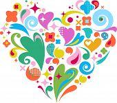pic of corazon  - cute decorative heart for Valentine - JPG