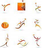 stock photo of people icon  - Abstract people icons and symbols - JPG