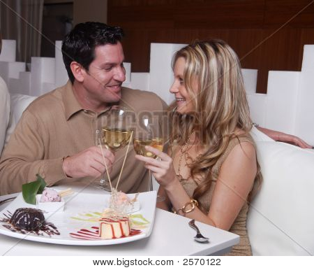 Couple Enjoying Romantic Night Out
