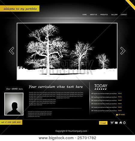 website template, personal portfolio