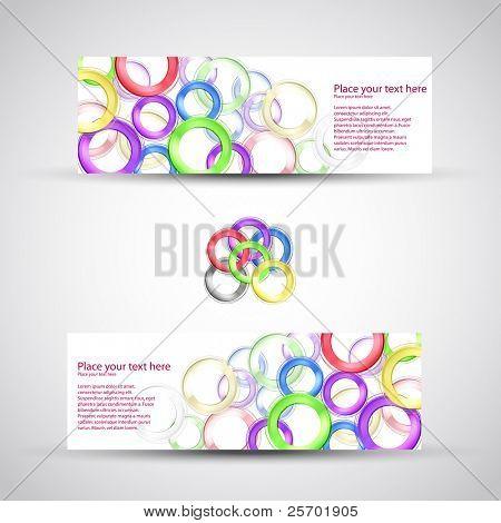 vector set header card design