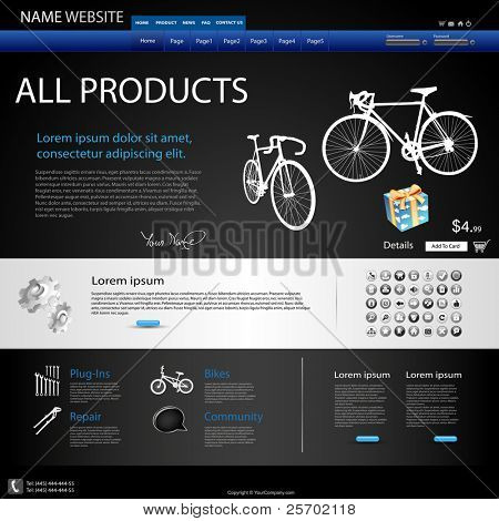 Web Design Website, for different product