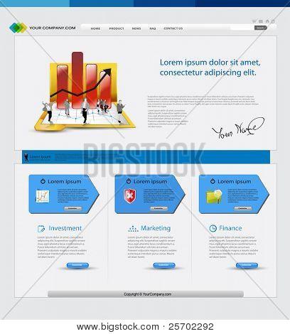 Sitio de web de plantilla de negocios con empresarios