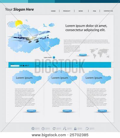 Travel web design template