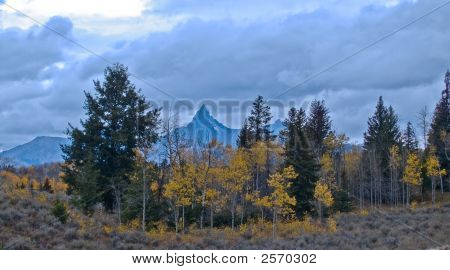 Mountain Landscape In Fall