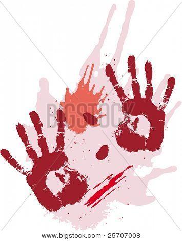 Bloods Grunge Texturen mit Händen