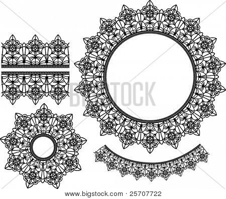 Set of vector lace elements