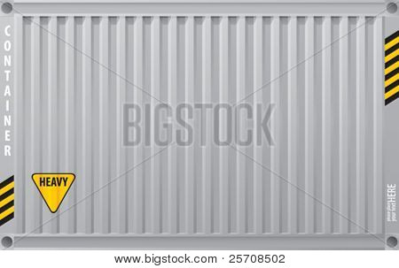 metal surface cargo container, vector background