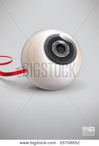 Globo ocular de foto, eps10 vector