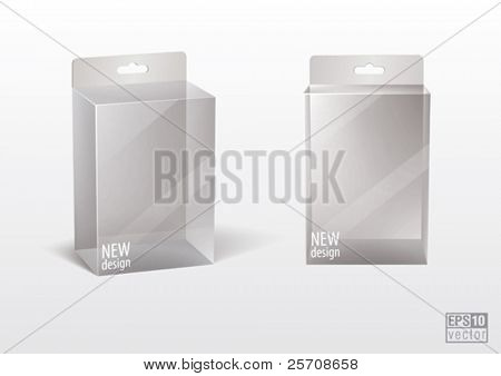 Transparent  blank box for your design, eps10 vector