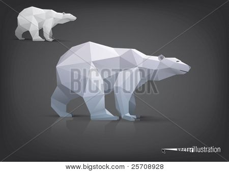 Vektor Eisbär stilisierte Dreieck Polygon Modell