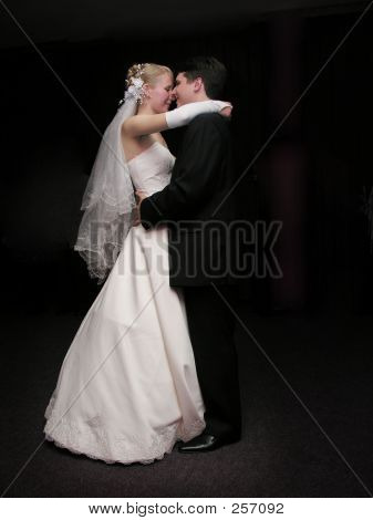 Bride And Groom Dancing In The Dark