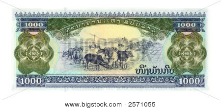 1000 Kip Bill Of Laos