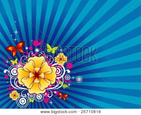 background flower illustration