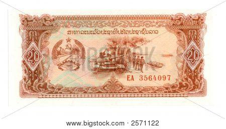 20 Kip Bill Of Laos