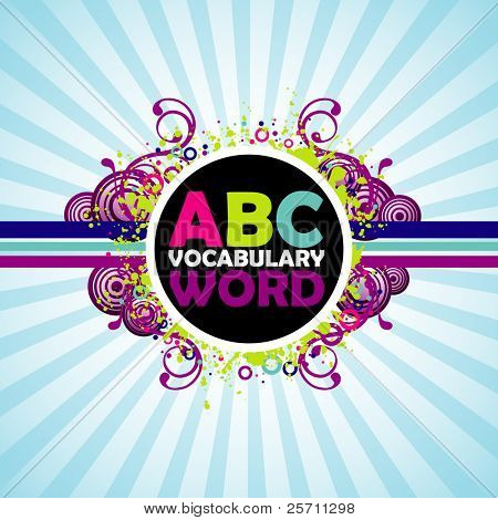 ABC colorful background.