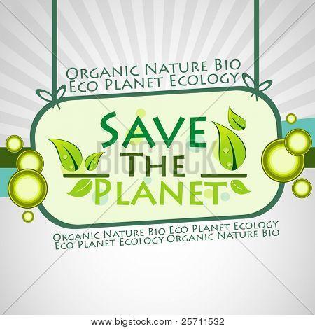 Salvar el planeta de fondo. Ilustración de Vector
