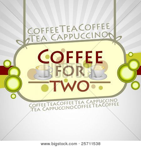 Coffee Background. Vector Illustration