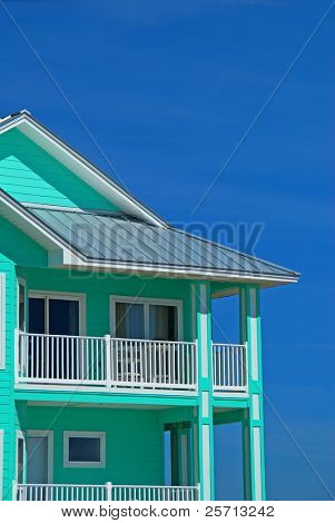 Mint Green Coastal Home