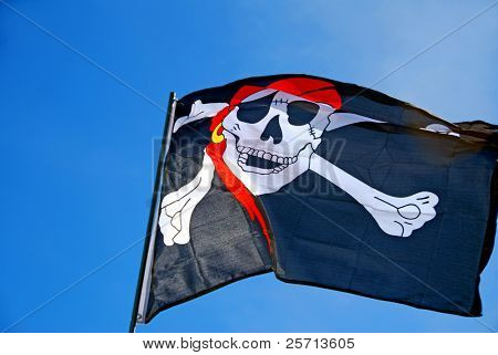 Waving Pirate Flag