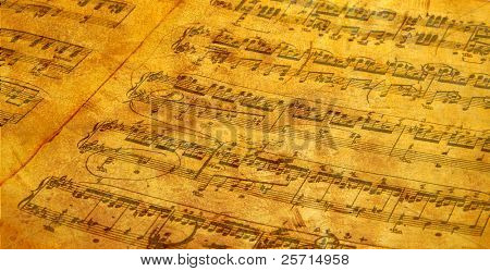 Antiqued Sheet Music