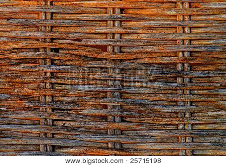 Aged rattan weave