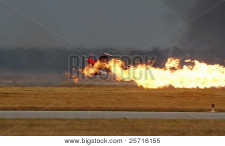 Aircraft Crashing and On Fire