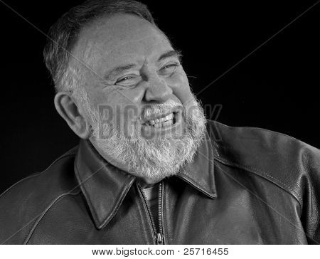 Middle Aged Bearded Man with Grin
