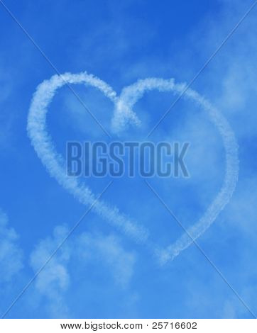 Romantic Heart Skywriting in Sky