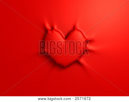 Sticky Red Heart